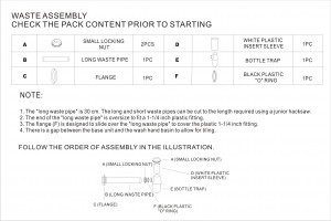 DRAIN 1 ASSEMBLY DRAWING