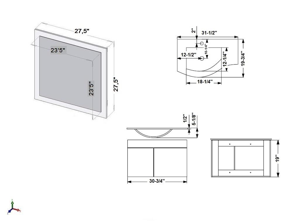 dessin en ligne miroir vanit wave en pouce luxo marbreluxo marbre. Black Bedroom Furniture Sets. Home Design Ideas