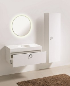 ENS. RELAX V36 WHITE WITH MIRROR & CABINET