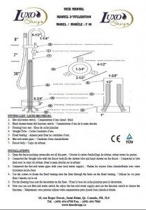 INSTRUCTION ROBINET F-98