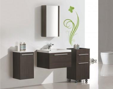 Vanité Relax V60 avec miroir Relax M45, cabinet Relax C40 et Relax C35 Couleur Alamo