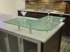 Temper glass kitchen