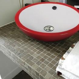 Vasques de céramique de couleur